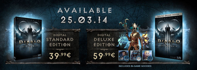 Reaper of Souls™ Unleashed on March 25, 2014 – Prepurchase Now