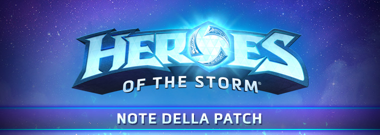 Note della patch PTR di Heroes of the Storm - 2 gennaio 2019