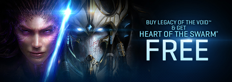 Buy Legacy of the Void & Get Heart of the Swarm FREE