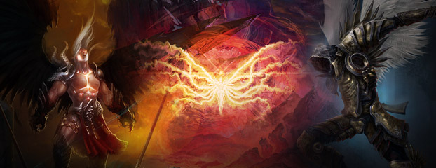 The High Heavens and Burning Hells Collide in New Diablo Fan Art