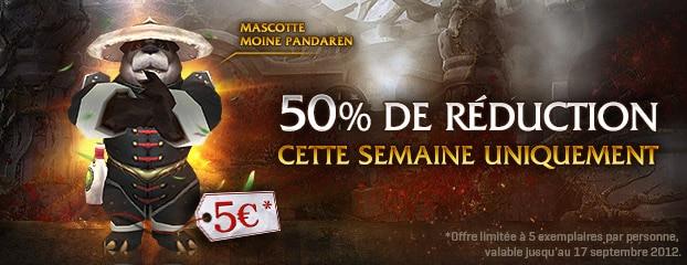 Moine Pandaren (mascotte) 5 euros