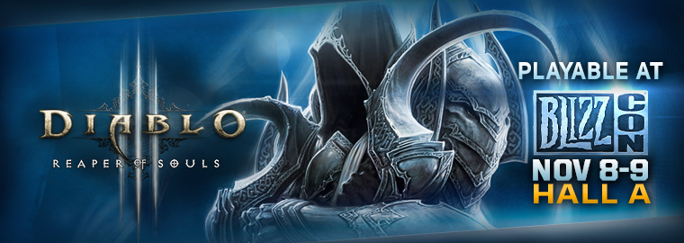 Reaper of Souls™ at BlizzCon® 2013 on PC and PS4