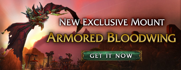 Armored Bloodwing—Exclusive Mount Now Available
