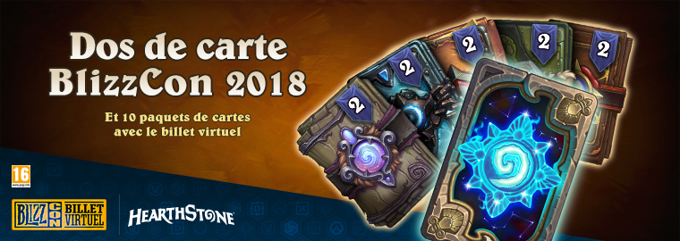 Étoffez votre collection de cartes Hearthstone avec le billet virtuel de la BlizzCon