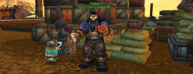 Fargo est responsable de la conception des quêtes de World of Warcraft