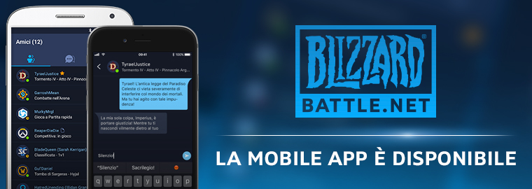 L'applicazione Blizzard Battle.net Mobile è ora disponibile!