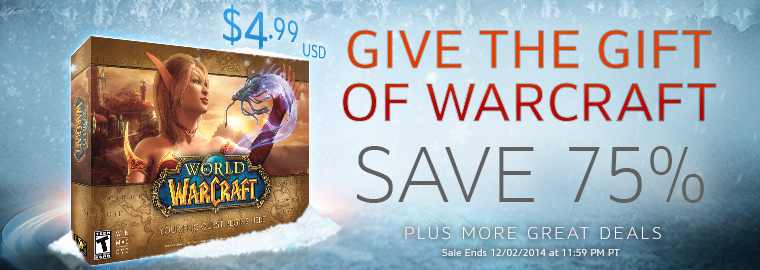Give the Gift of Warcraft—WoW 75% Off on Black Friday!