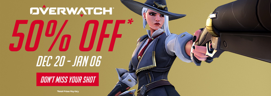 Holiday Sale: Save 50% on Overwatch®