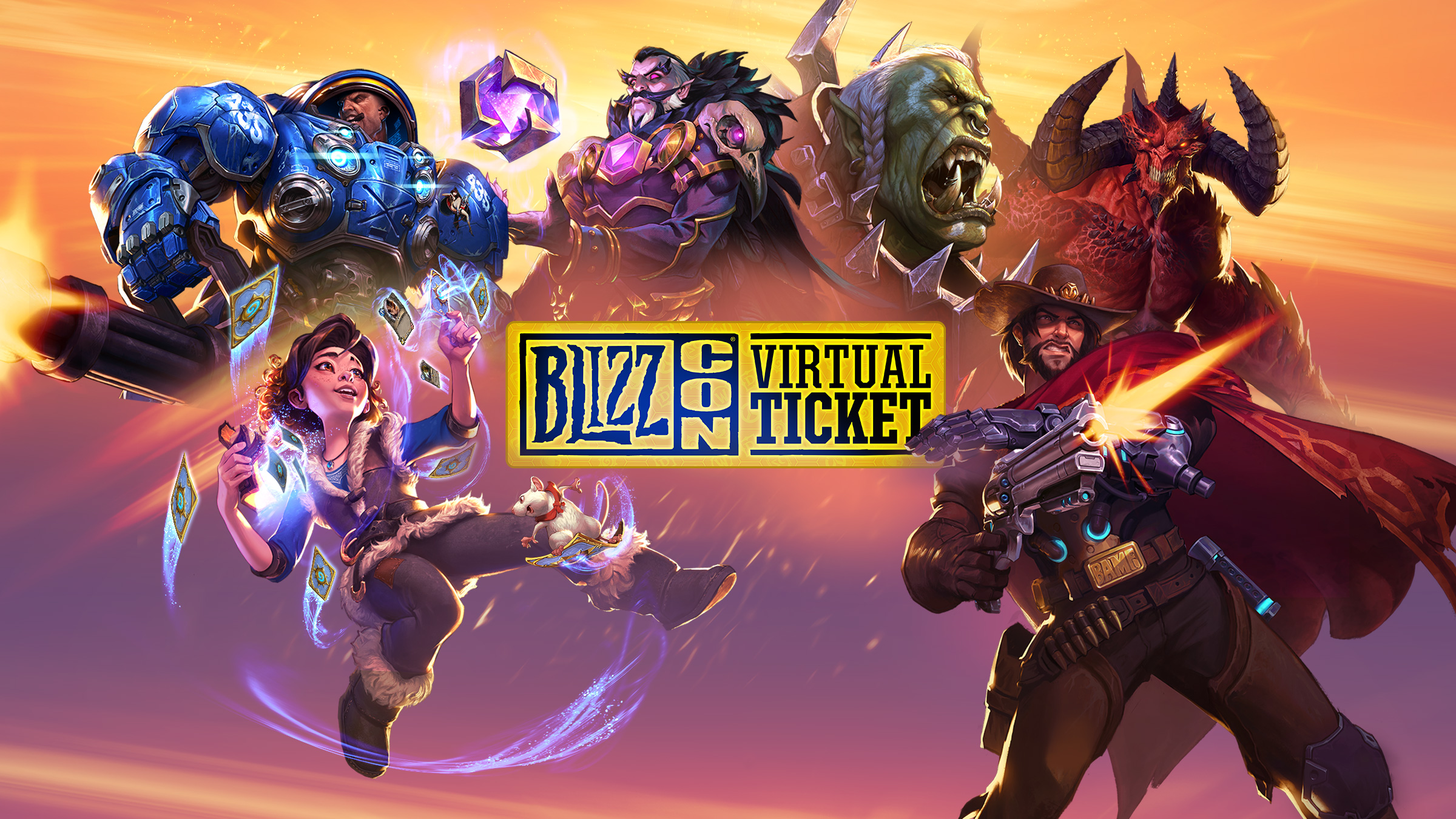Jogue a demo do WoW® Classic da BlizzCon® com o Ingresso Virtual