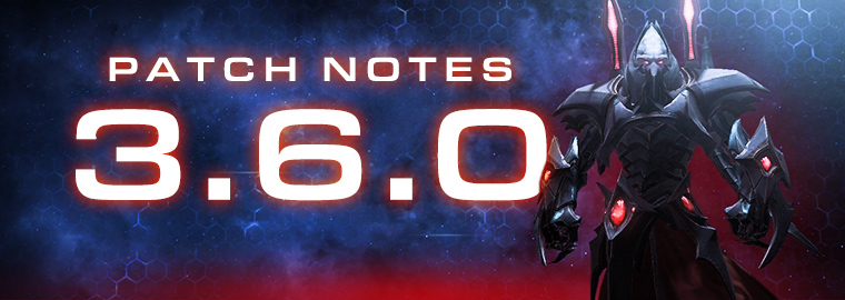 Notas do Patch 3.6.0 do StarCraft II: Legacy of The Void
