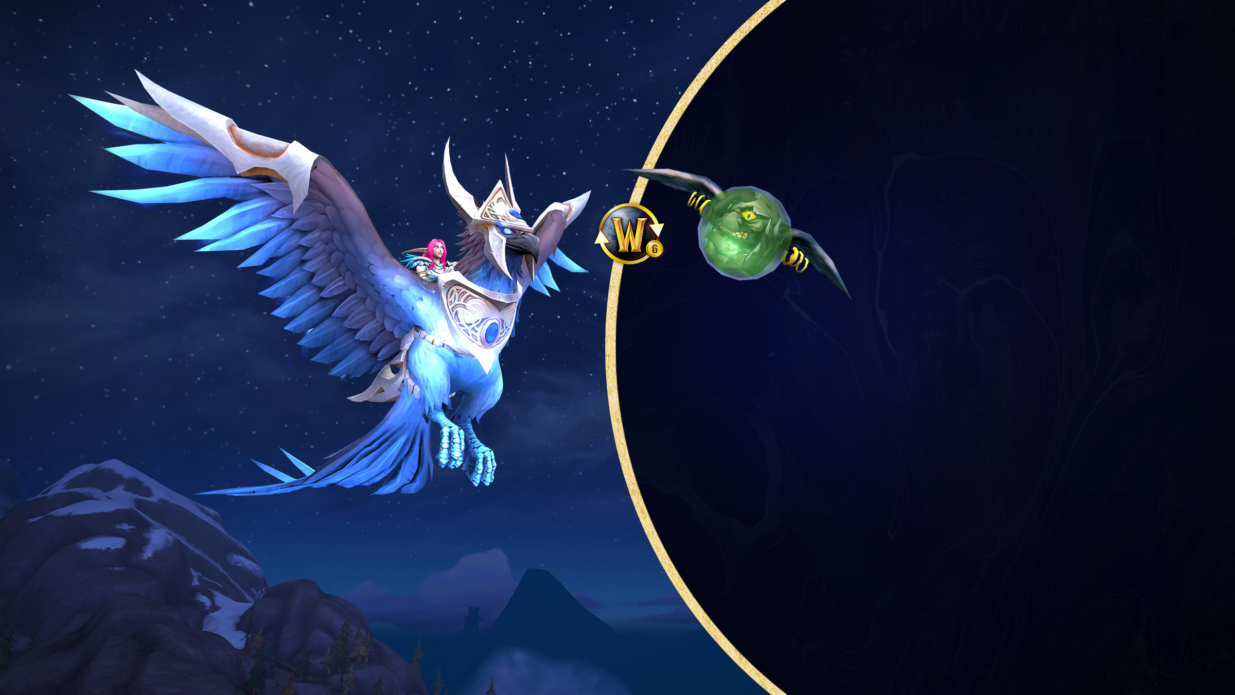Get the New Sapphire Skyblazer Mount with the Purchase of a 6 Month Subscription!