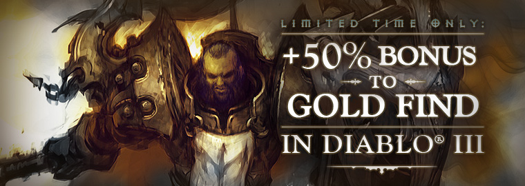 +50% Gold Find - This Weekend Only