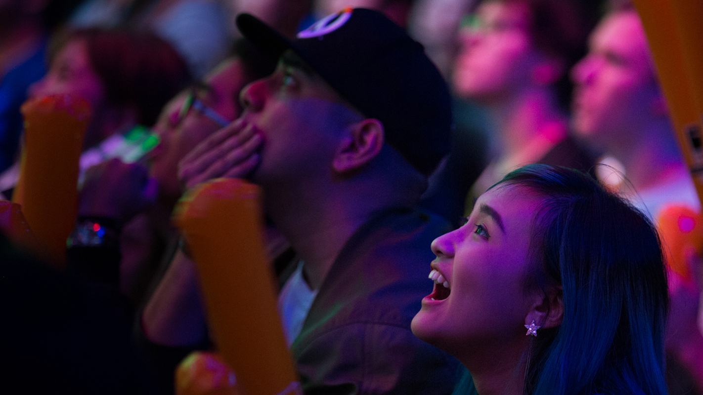 Fans at the Blizzard Arena