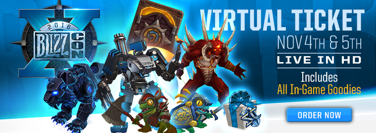 Get a Sneak Peek at the BlizzCon® 2016 In-Game Goodies