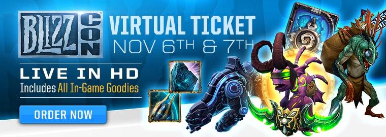 Наградите от виртуалните билети на BlizzCon 2015