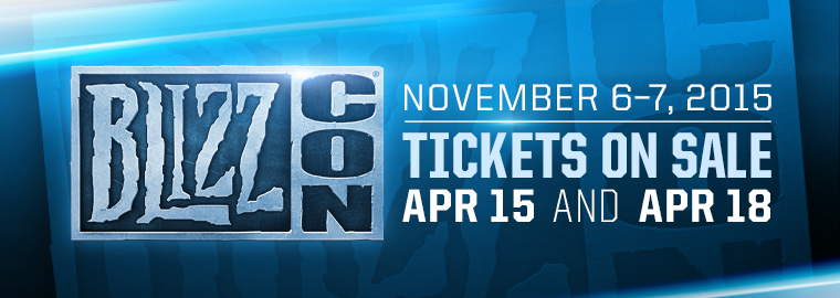 BlizzCon 2015 is November 6th and 7th