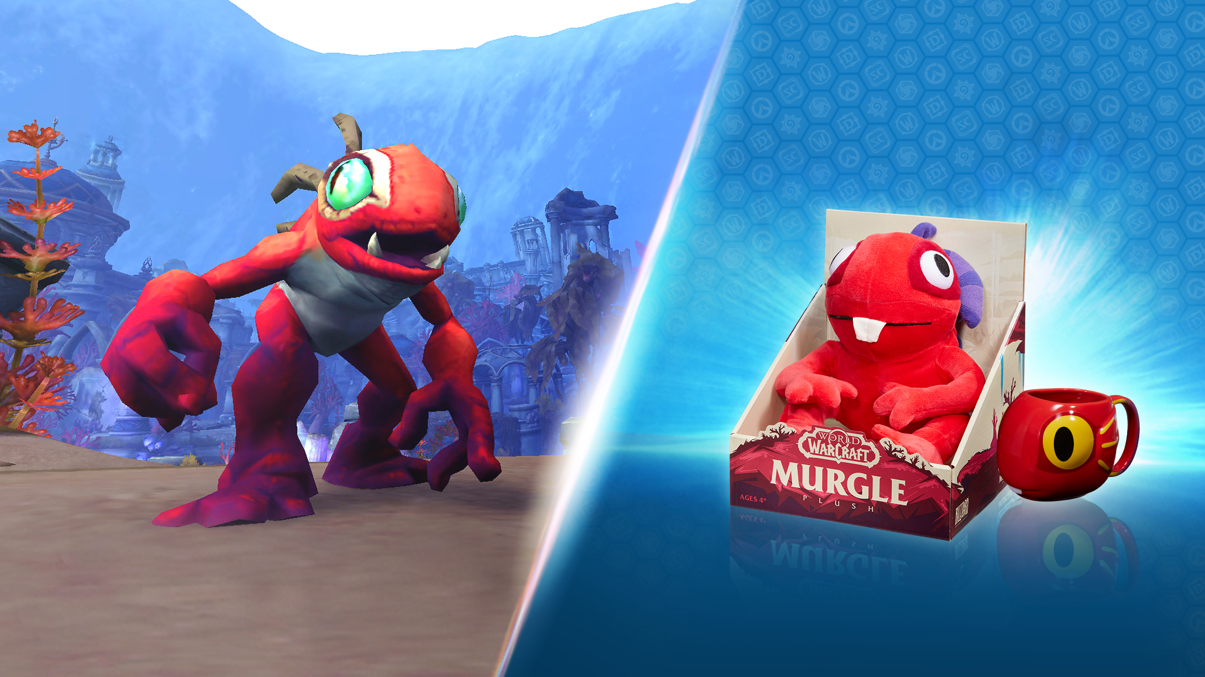 Get Murgle the Red Murloc Plush and Mug July 9!