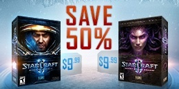Starcraft II WoL ve Heart of Swarm %50 İndirim