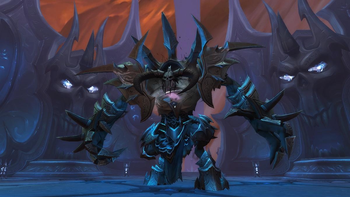 Bild: Der Tarragrue – eine gewaltige Kreatur mit stachelbewährter Rüstung und einem Schädelhelm