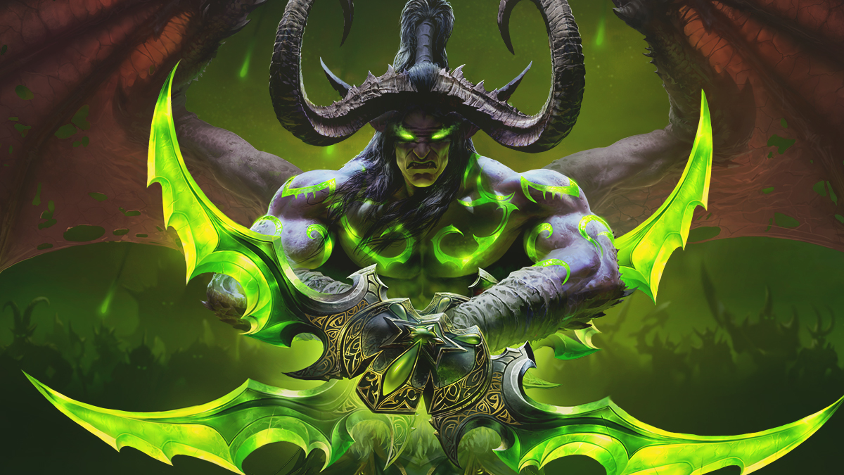 Illidan with Crossed Warglaives