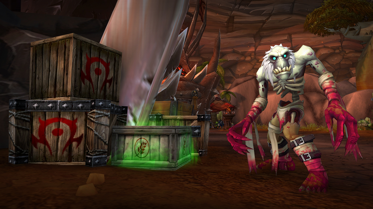 Undead Ghoul Near Tainted Crates in Orgrimmar