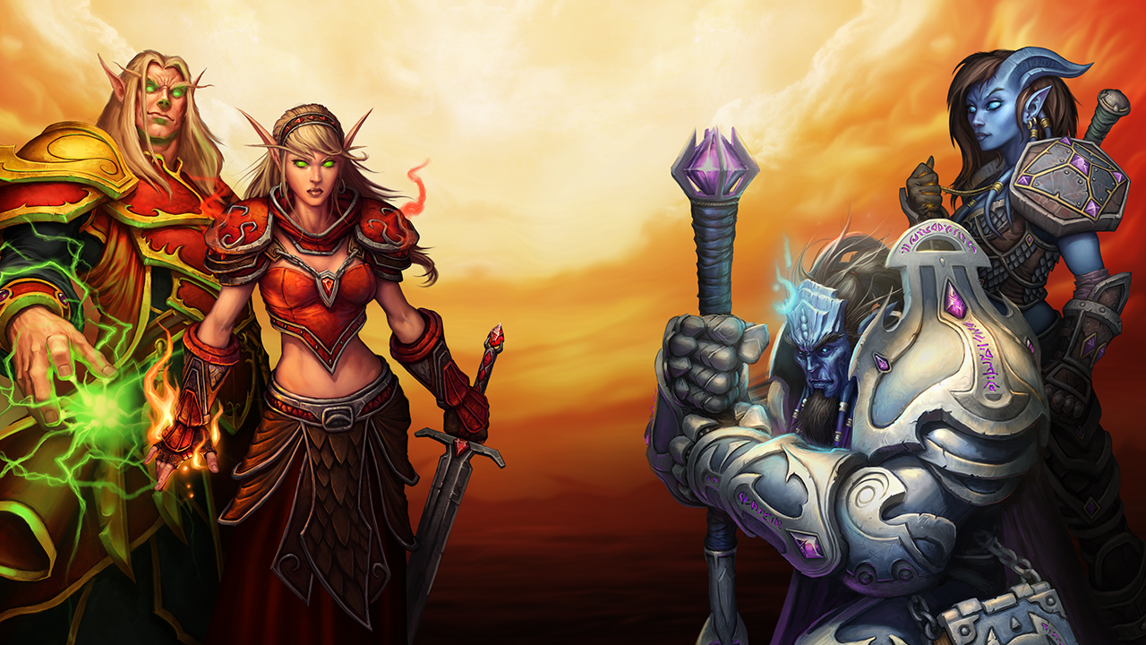 Male and Female Blood Elf and Male and Female Draenei