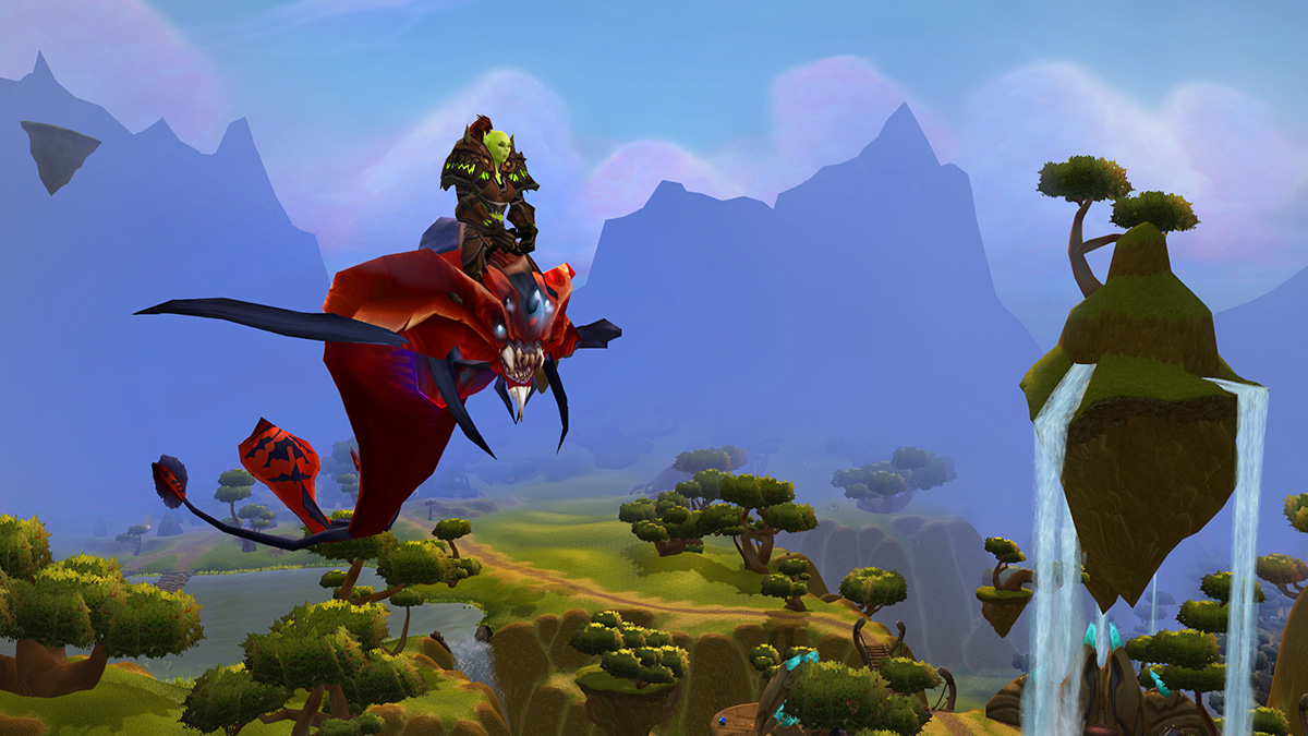 Orc Riding a Flying Mount in Nagrand