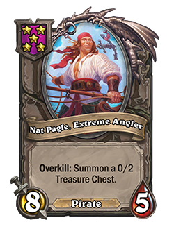 Nat Pagle Extreme Angler Battlegrounds Minion + Art