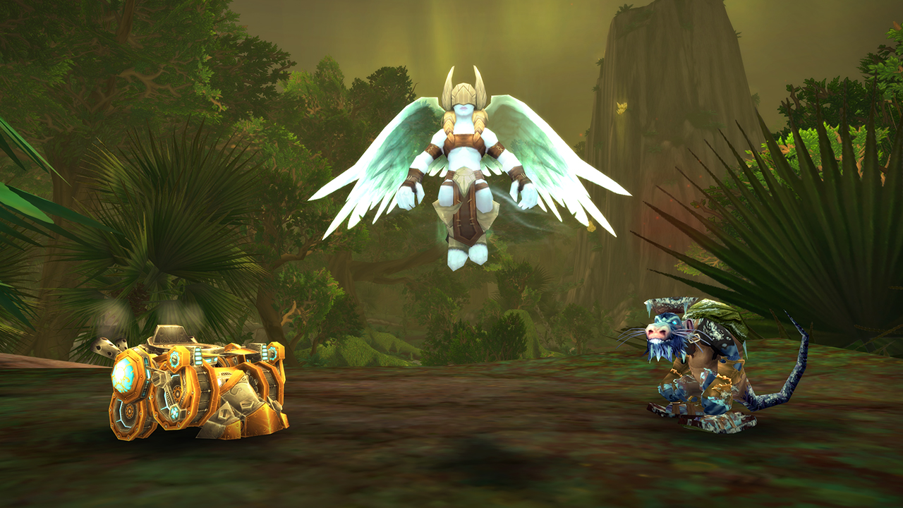 From left to right- G0-R41-0N Ultratonk, Unborn Val'kyr, And Snobold Runt