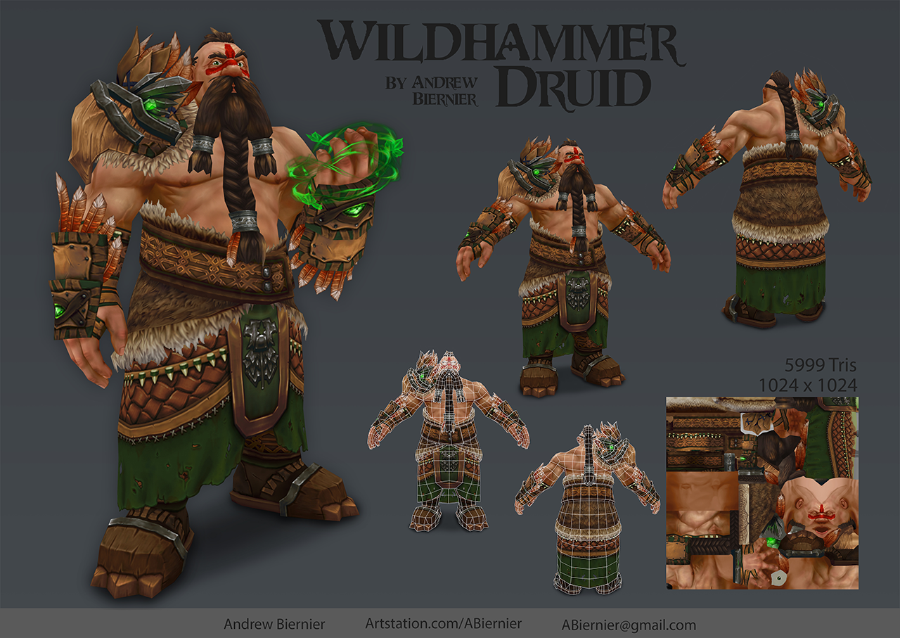 Wildhammer Druid by Andrew Biernier- Academy of Art University