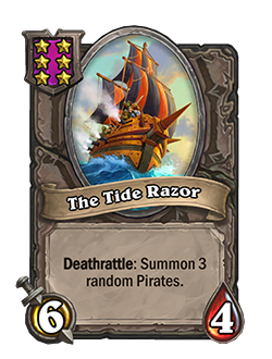 The Tide Razor Battlegrounds Minion + Art