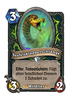 Felrattler is a common 3 mana 3 attack 2 health demon hunter beast minion with text that reads rush deathrattle: deal 1 damage to all enemy minions.