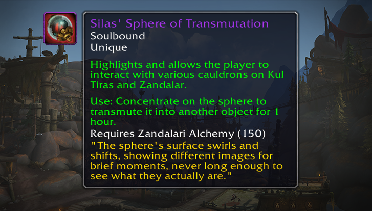 Silas' Sphere of Transmutation