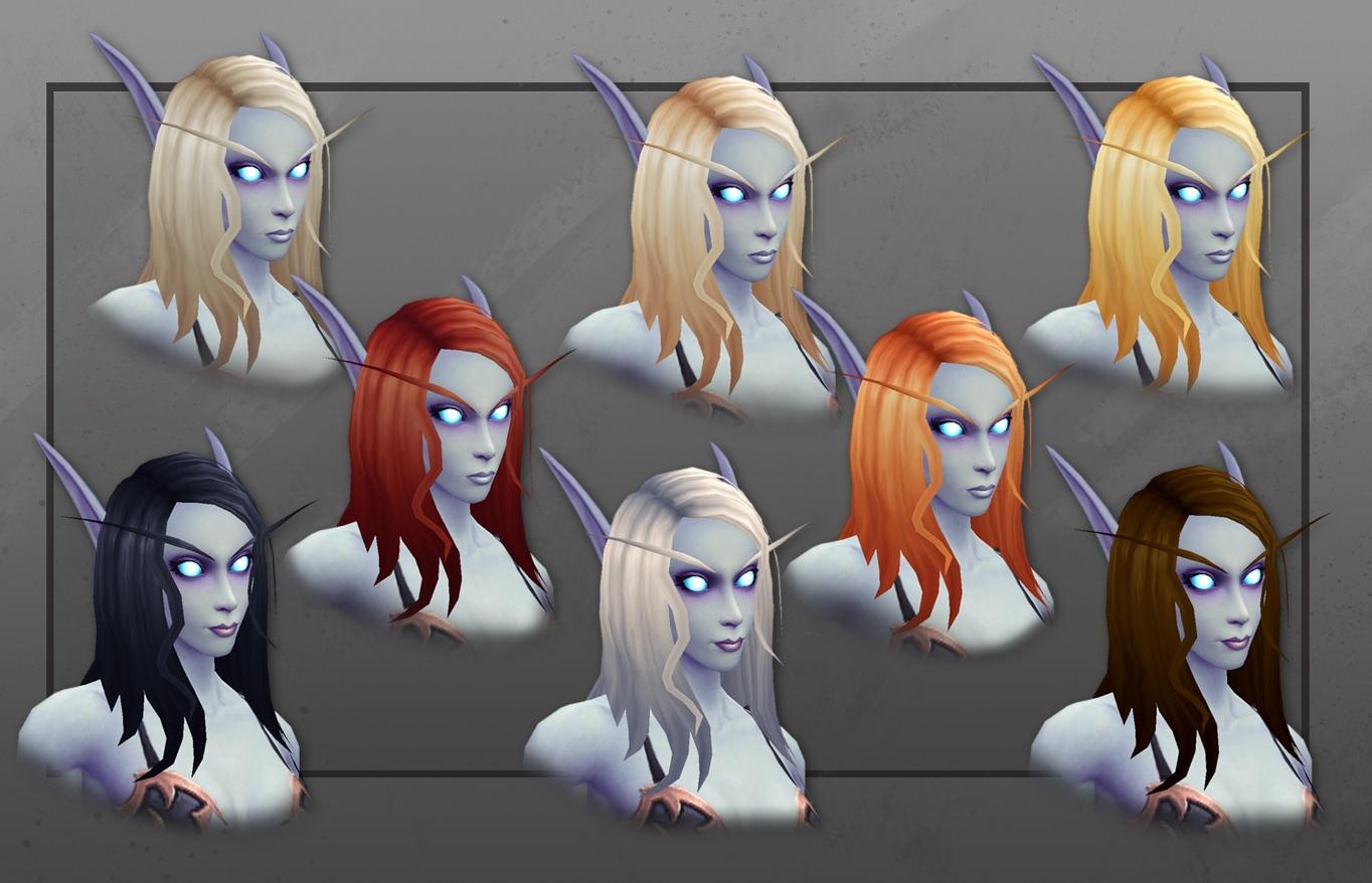 Primeros planos de elfas del Vacío con nuevas opciones de personalización de peinados
