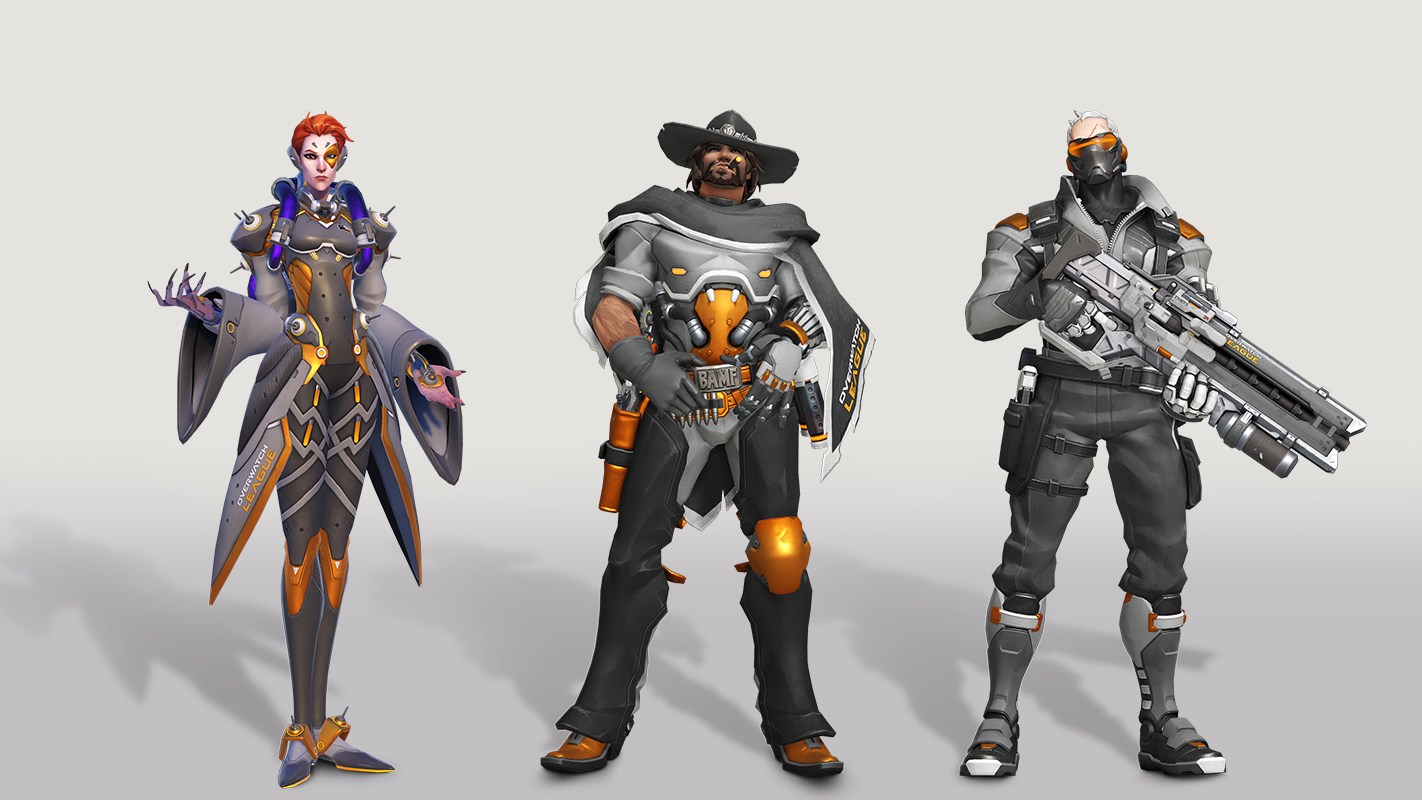 Overwatch League in-game skins.