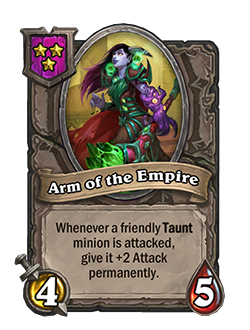 Old Arm of the Empire had 5 health.