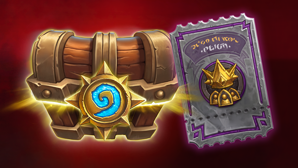 Image of Hearthstone Chest and United in Stormwind Card Back