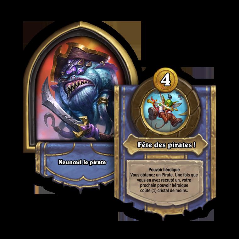 Portrait et nouveau pouvoir héroïque de Neunœil le pirate