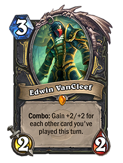 Edwin as a singular card is a 3 mana 2 / 2