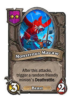 Monstrous Macaw Battlegrounds Minion + Art