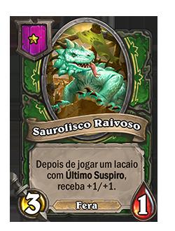 Card Saurolisco Raivoso - Antes