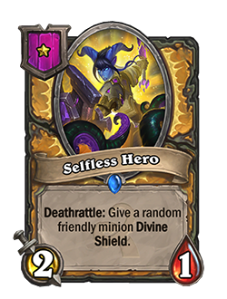 Selfless Hero used to be tier 1