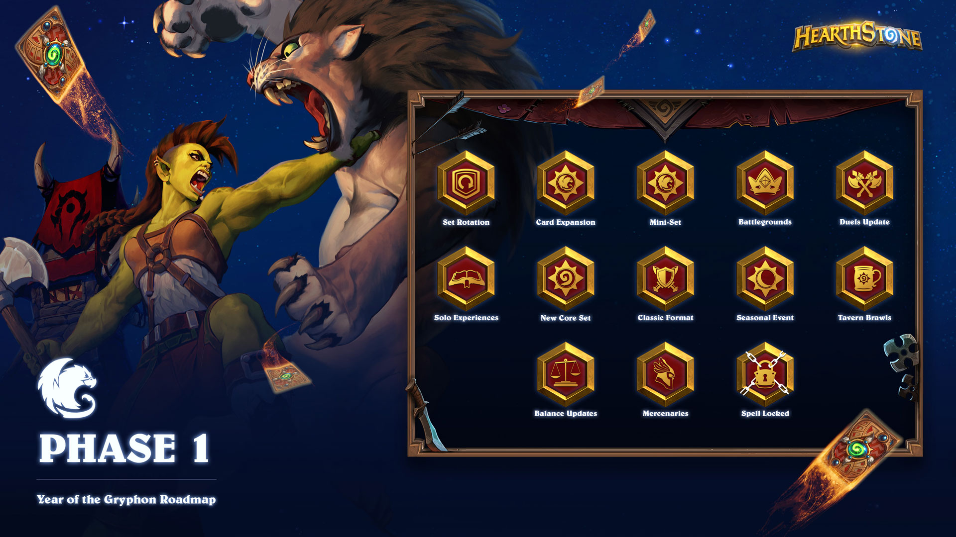 a drilldown image of phase 1 of the year of the gryphon roadmap