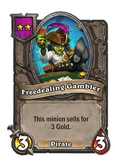 Freedealing Gambler Battlegrounds Minion + Art