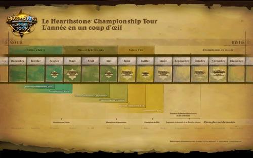 La carte du championnat du monde de Hearthstone 2016 !