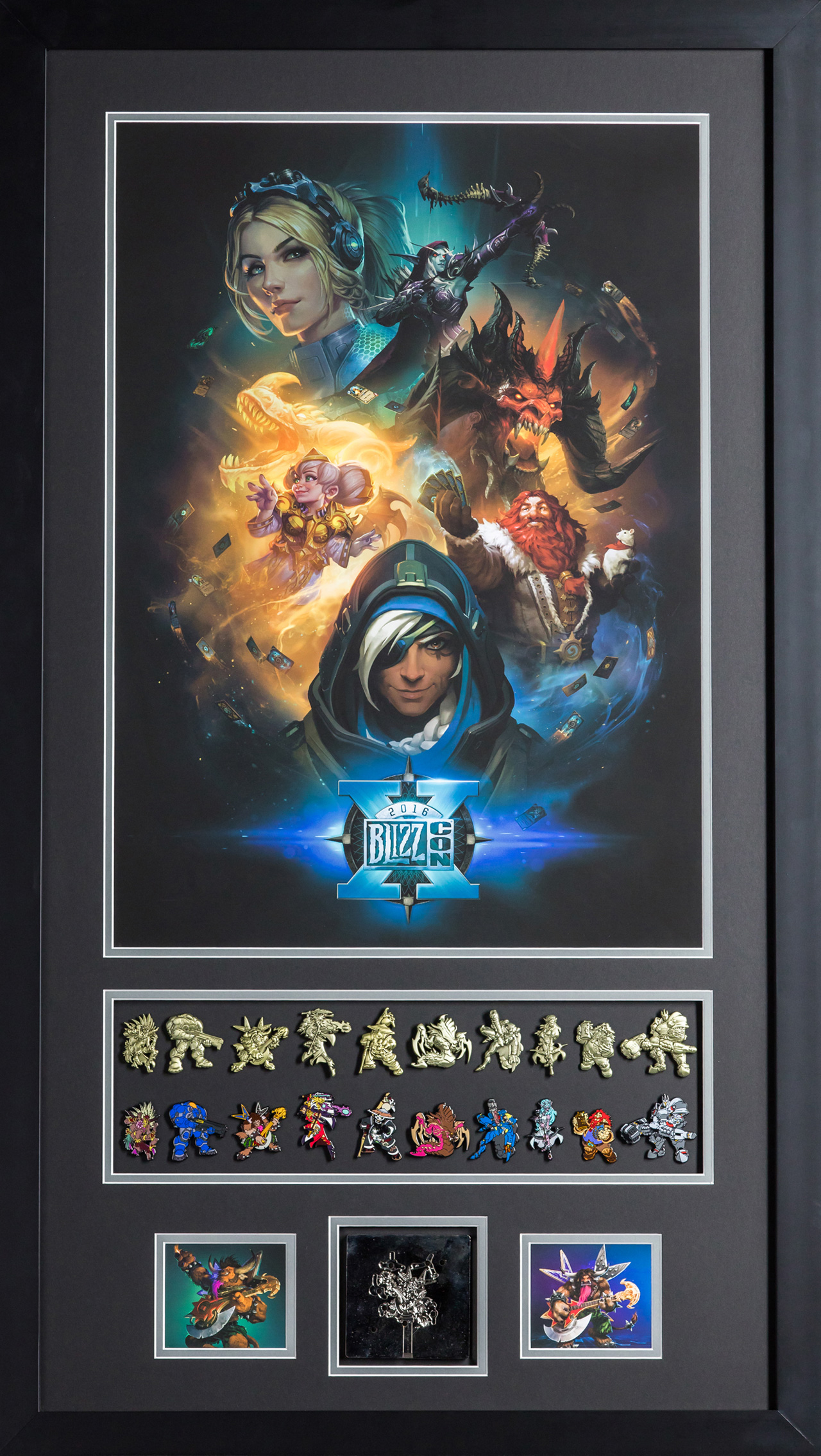 BlizzCon 10th Anniversary Poster and Pins