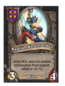 Schlachtfelddiener Kapitän Knurrreißer mit Bild