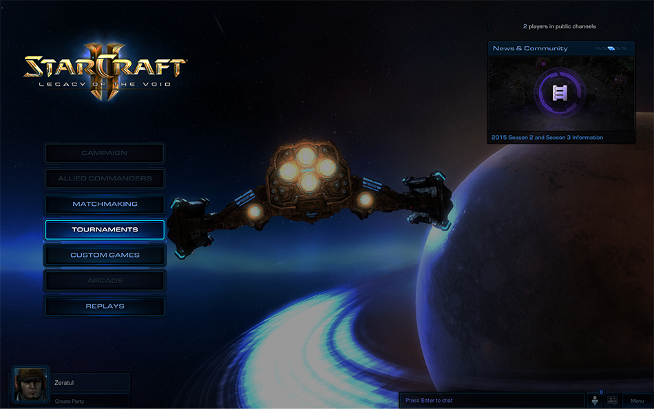 matchmaking StarCraft verrouillé