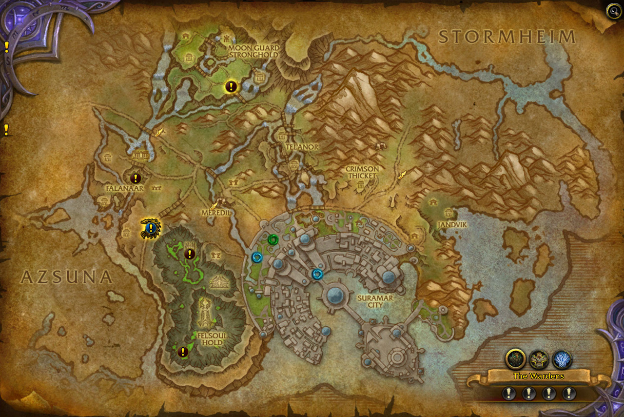 Legion World Map.Legion World Quests And You