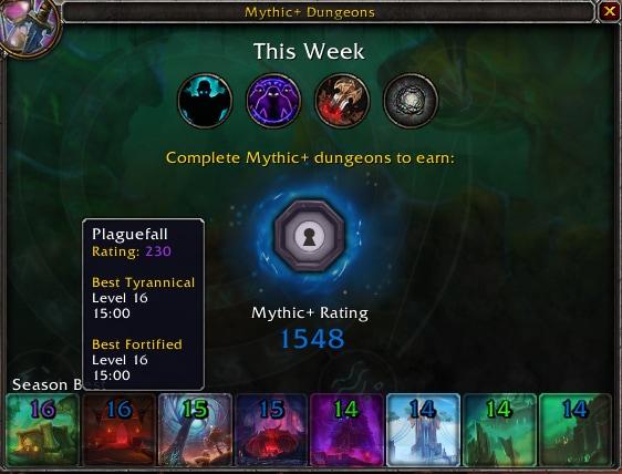 Mythic+ Rating System UI